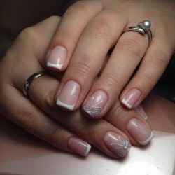 Butterfly french manicure photo