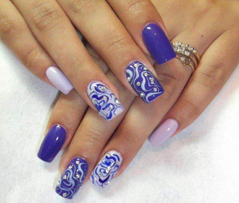Модные рисунки на ногтях гель-лаком: фото и видео 73