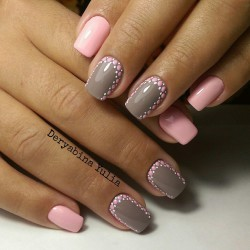 Reverse french by gel polish photo