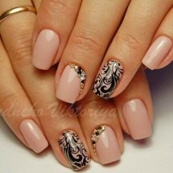 Autumn gel polish for nails photo