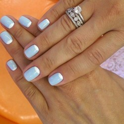 Celestial blue nails photo