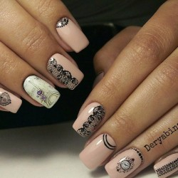 Eiffel Tower nails photo