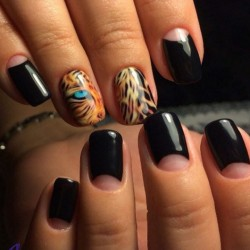Leopard nail designs photo