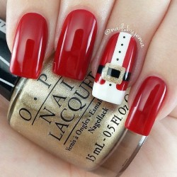 Red gel polish for nails photo