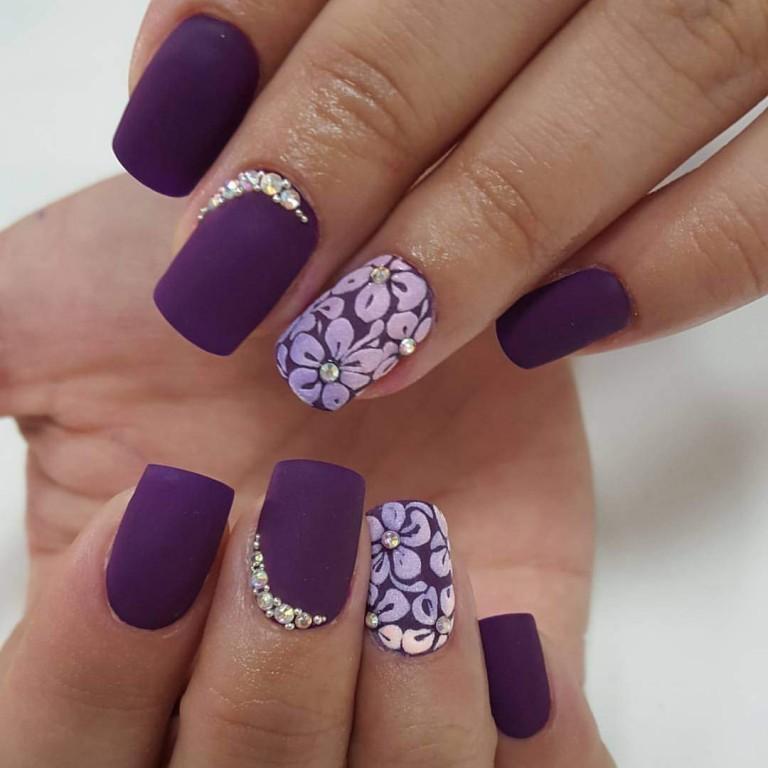 Нарощенные матовые ногти дизайн