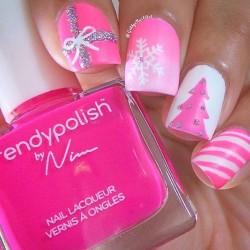 Snowflakes on nails photo