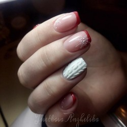 Gentle winter nails photo