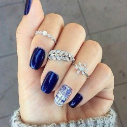 Blue shellac photo