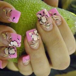 Pink nail art photo