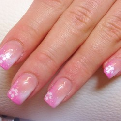 Flower French nails photo
