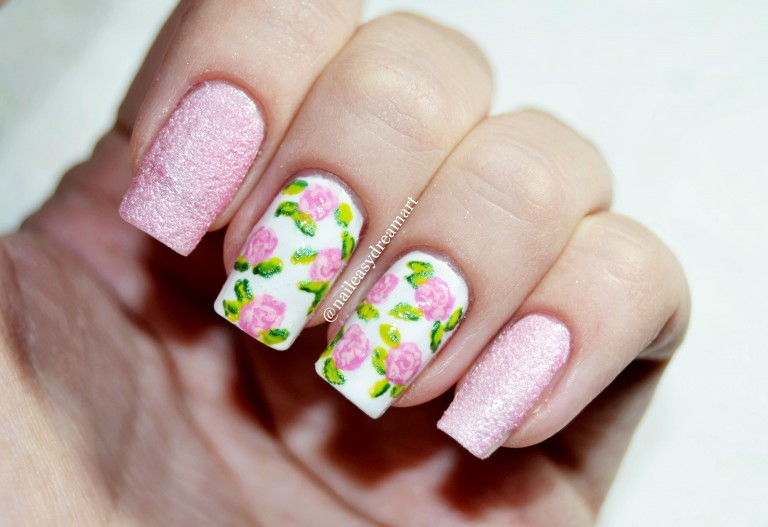 Outstanding Floral Print Nails Elaboration - Nail Art Design Ideas ...