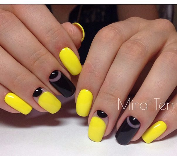 Black And Yellow Nails The Best Images Bestartnails