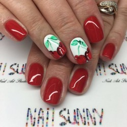 Cherry nails photo