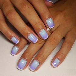 Moon ombre nails photo