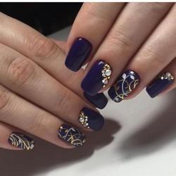 Dark purple nails photo
