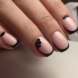 Moon nails by gel polish photo