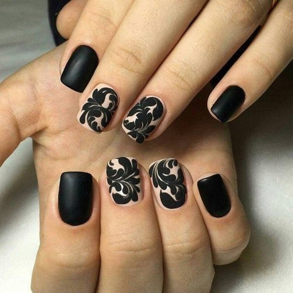 Black nails - Nail Art #1673 - Best Nail Art Designs Gallery BestArtNails.com