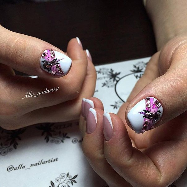 White nails - Nail Art #1676 - Best Nail Art Designs Gallery BestArtNails.com