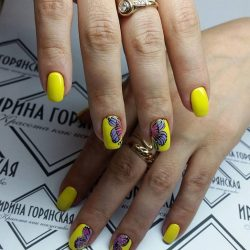 Nailswith butterfly wings photo