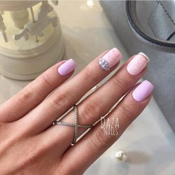 Nails with gems photo