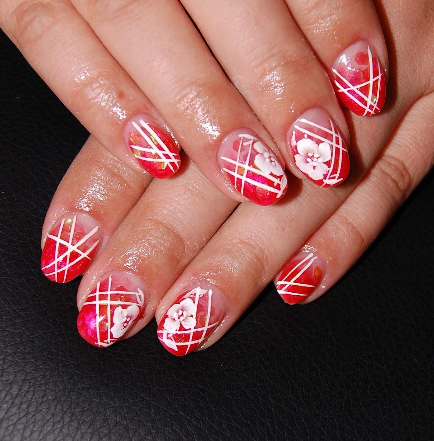 Bright red nails - The Best Images | BestArtNails.com