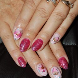Flowers on nails photo