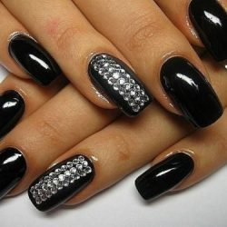 Dark shellac nails photo