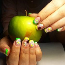 Beautiful summer french nails photo