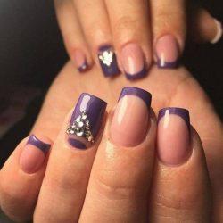 Purple french manicure photo