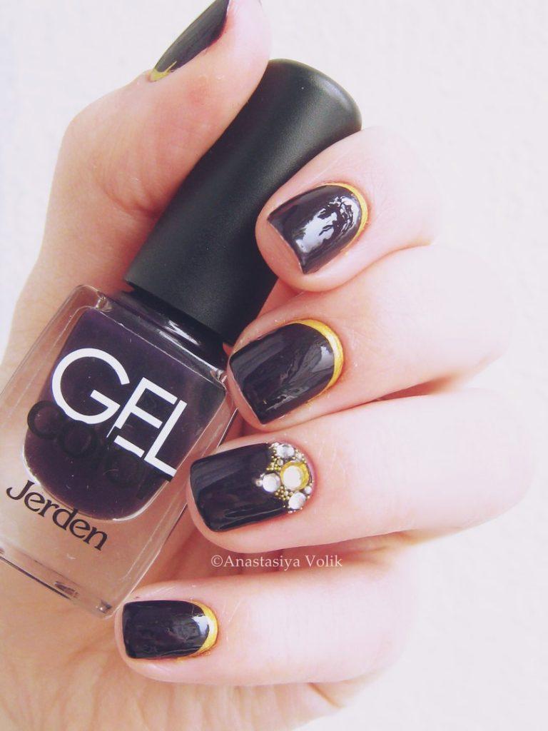 Black dress nails - Winter Nails