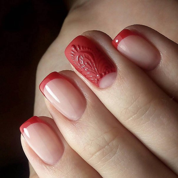 Red french manicure the best images bestartnails red french manicure photo prinsesfo Choice Image