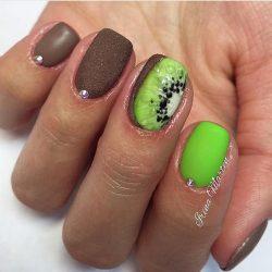 Chocolate nails photo