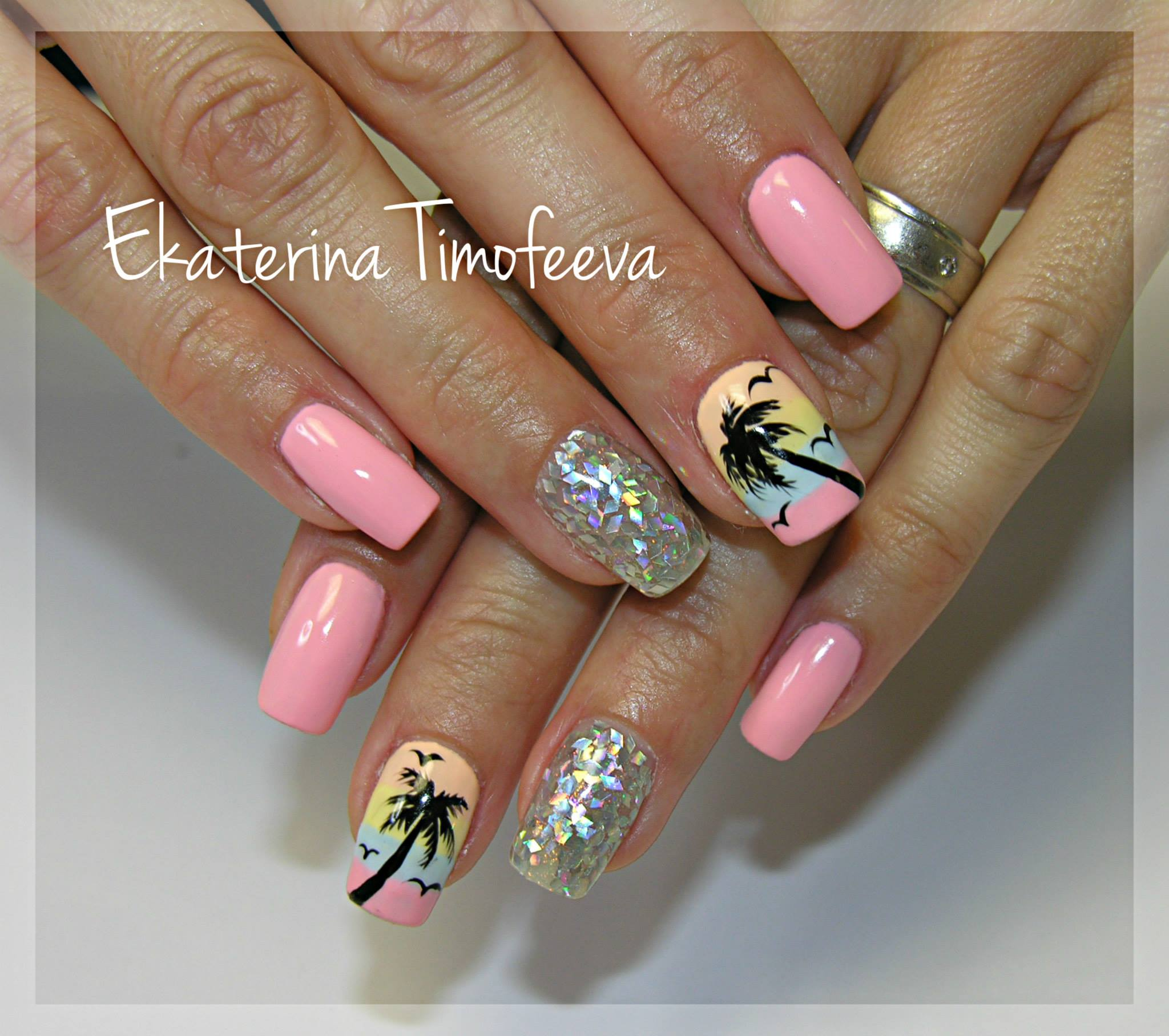 Palm tree nail art - The Best Images | BestArtNails.com
