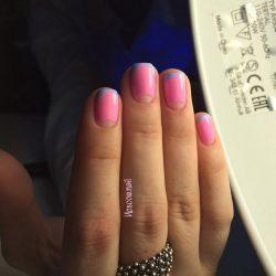 Summer brightfrench manicure photo