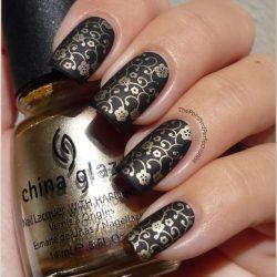 Gold casting nails design photo