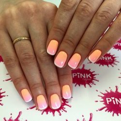 Multi-colored french manicure photo