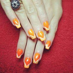 Bright french manicure 2017 photo