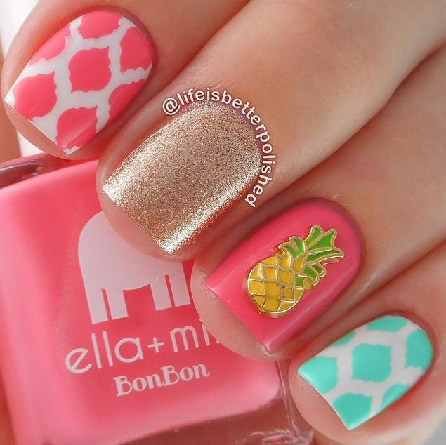 Nail art 1877 best nail art designs gallery bestartnails summer nails prinsesfo Gallery