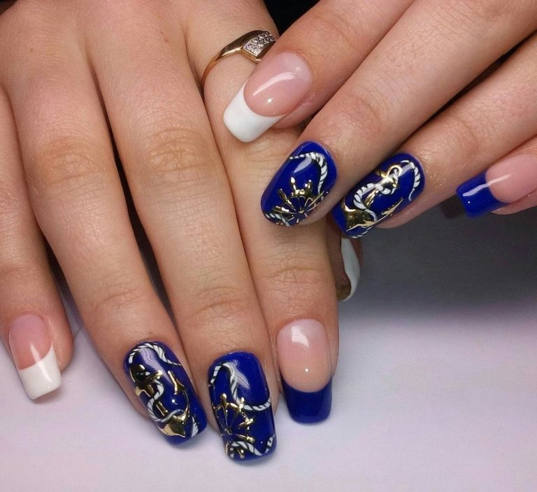 Beautiful summer french nails - The Best Images | BestArtNails.com