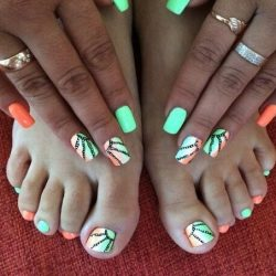 Bright orange nails photo