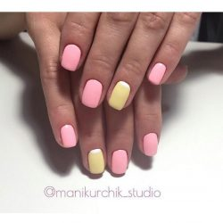Bright moon nails photo