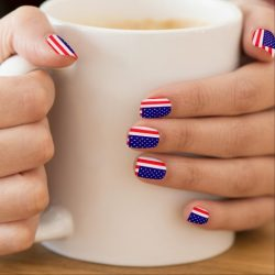Red white and blue nails photo