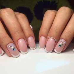 Beautiful wedding nails photo
