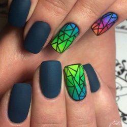 Broken glass nails photo