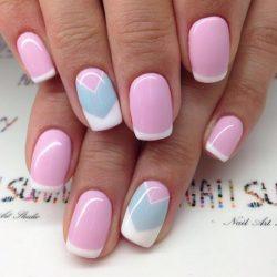Stylish French nails photo