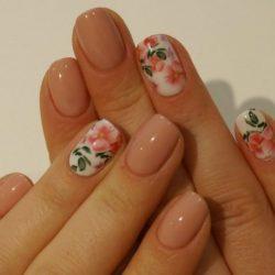 Nails of natural shades photo