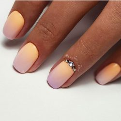Ombre manicure on nails photo