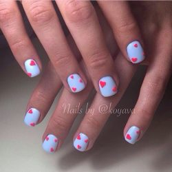 Summer nails with stickers photo