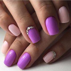 Manicure in purple tones photo