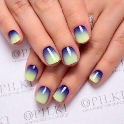 Rainbow nails photo